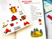 Camping sticker pack by Warmsquirrel detail