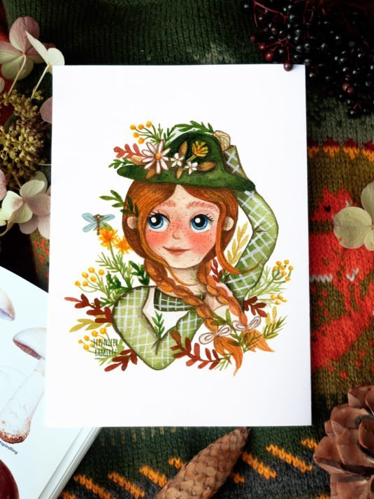 WarmSquirrel Anne A Print By Warmsquirrel