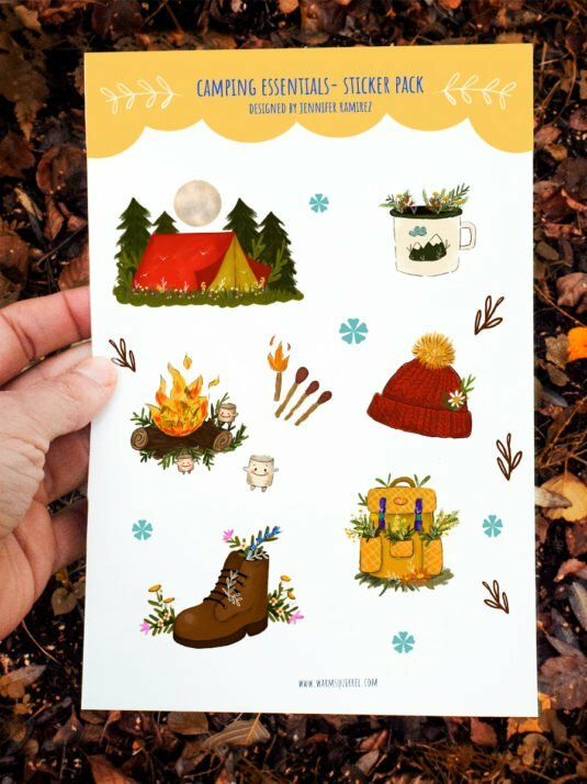 WarmSquirrel Camping Essentials Sticker Set By Jennifer Ramirez Warmsquirre