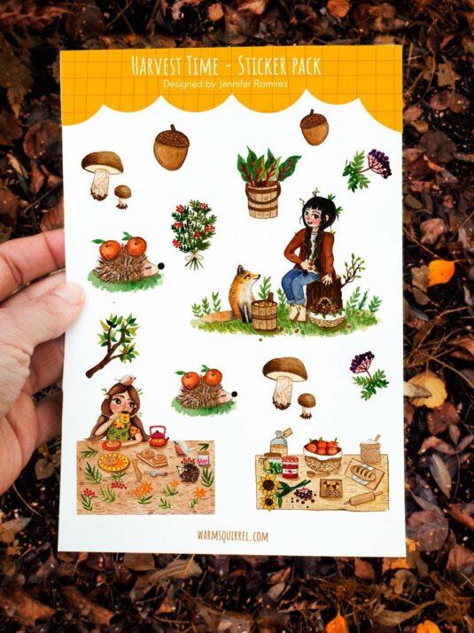 WarmSquirrel Harvest Time Sticker Pack
