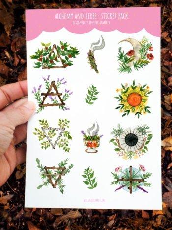 WarmSquirrel Alchemy Sticker Set By Warmsquirre Jennifer Ramirezl
