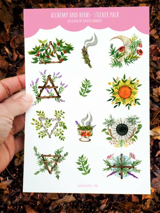 WarmSquirrel Alchemy Sticker Set By Warmsquirre Jennifer Ramirezl