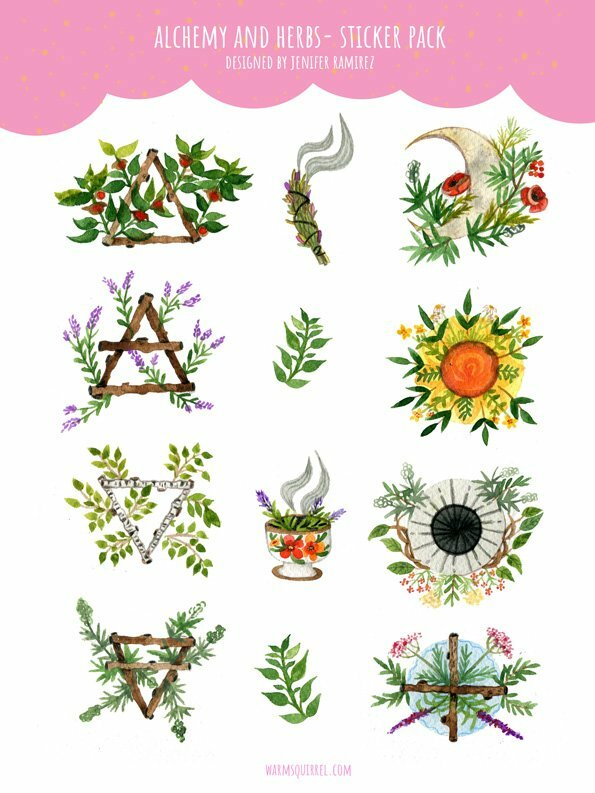 WarmSquirrel Alchemy Sticker Set By Warmsquirrel