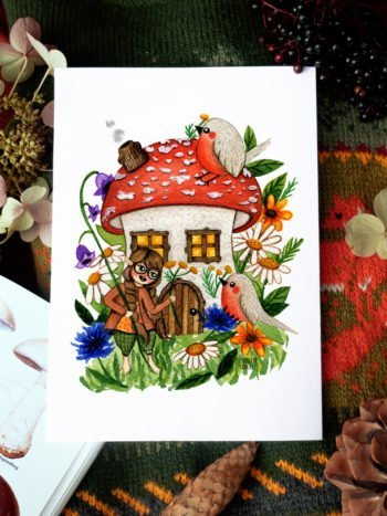 WarmSquirrel Amanita House By Jennifer Ramirez Warmsquirrel A Print