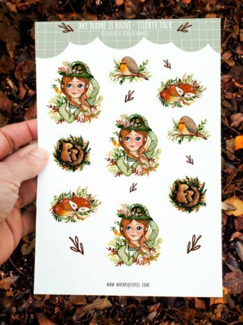 WarmSquirrel Anne With An E Sticker Set A By Warmsquirrel Jennifer Ramirez