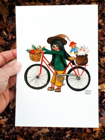 WarmSquirrel Autumn A Witch In Bike By Warmsquirrel Jennifer