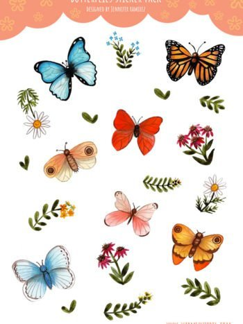 WarmSquirrel Butterfly A Sticker Pack