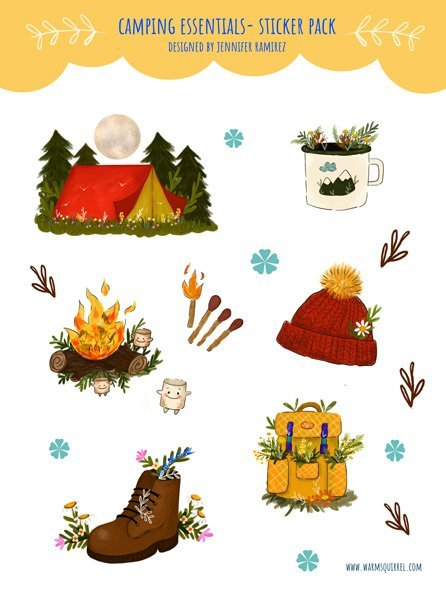 WarmSquirrel Camping Essentials Front By Jennifer Ramirez Warmsquirrel
