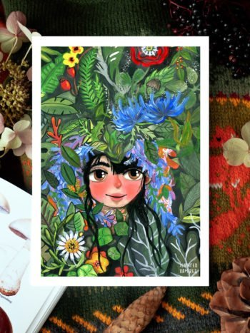 WarmSquirrel Jungle Girl Art Print By Warmsquirrel Jennifer Ramirez View