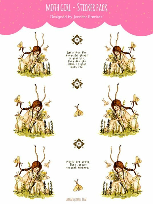 WarmSquirrel Moth Fairy Sticker Set By Jennifer Ramirez Warmsquirrel