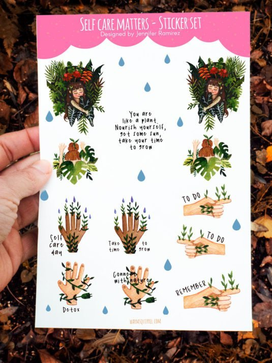 WarmSquirrel Self Care Matters Sticker Pack By Warmsquirrel Jennifer Ramirez A