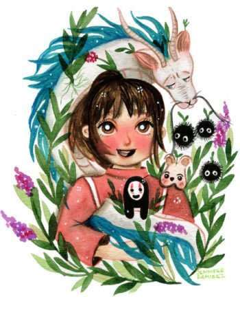 WarmSquirrel Spirited Away Fanart Watercolor By Jennifer Ramirez Warmsquirrel White