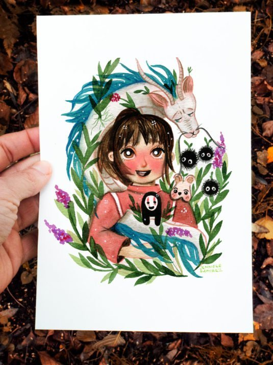 WarmSquirrel Spirited Away Fanart Watercolor Print By Jennifer Ramirez Warmsquirrel A