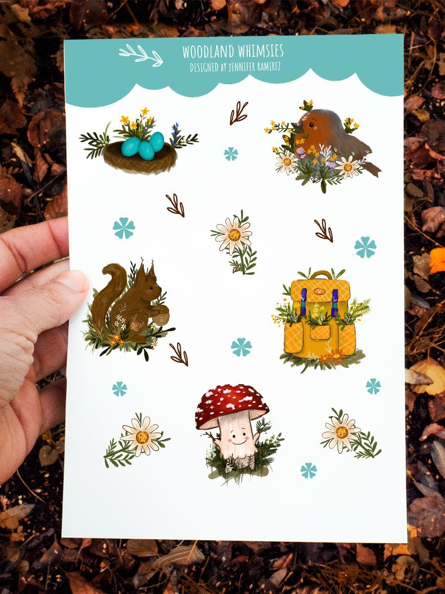 WarmSquirrel Woodland animals sticker set By Jennifer Ramirez Warmsquirrel