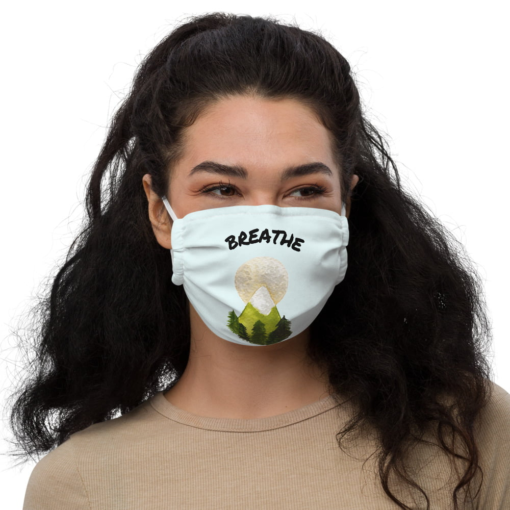 Reusable face mask with print by WarmSquirrel
