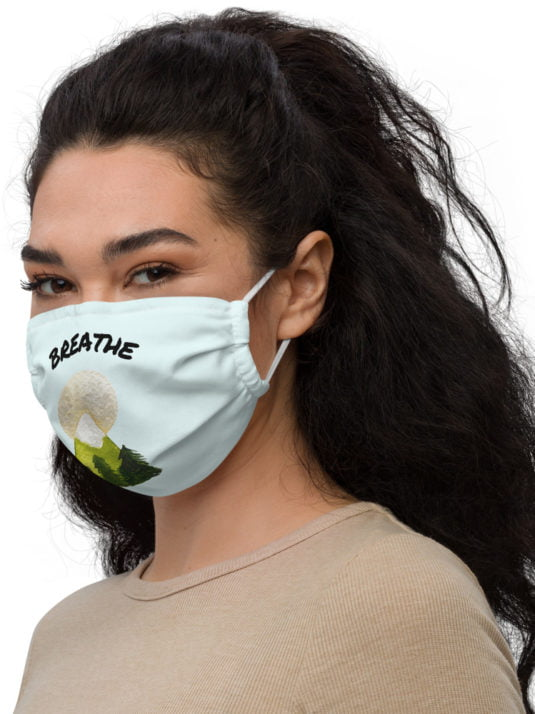 One size fits all reusable face mask.