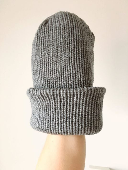 Gray Brimmed Beanie by WarmSquirrel
