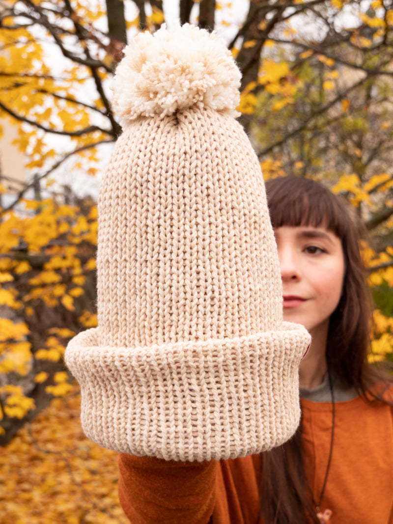 WarmSquirrel Eco Vegan Beanie Recycled Pet Bottles Cotton