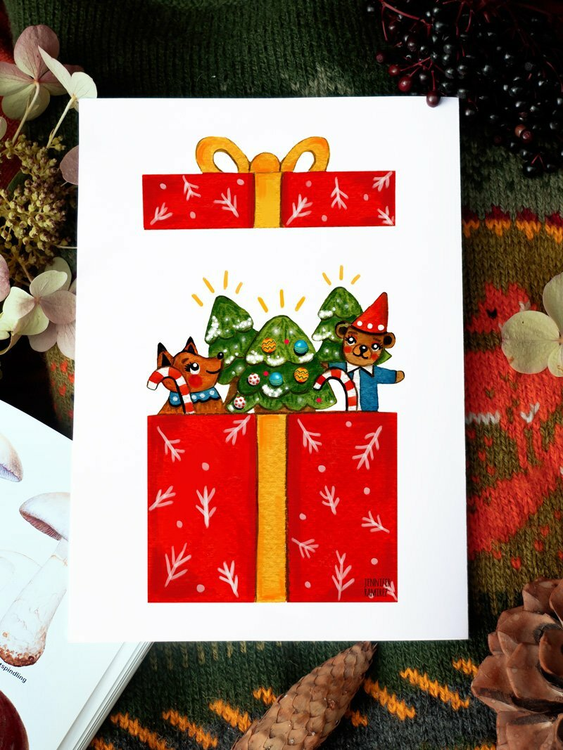 WarmSquirrel Box Present By Jennifer Ramirez Warmsquirrel A