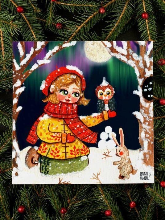 WarmSquirrel Girl In The Snow By Warmsquirrel Jenniferramirez