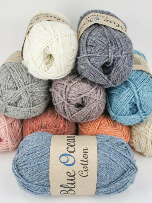 Svarta Faret Blue Ocean Cotton Recycled PET Plastic and Cotton Yarn
