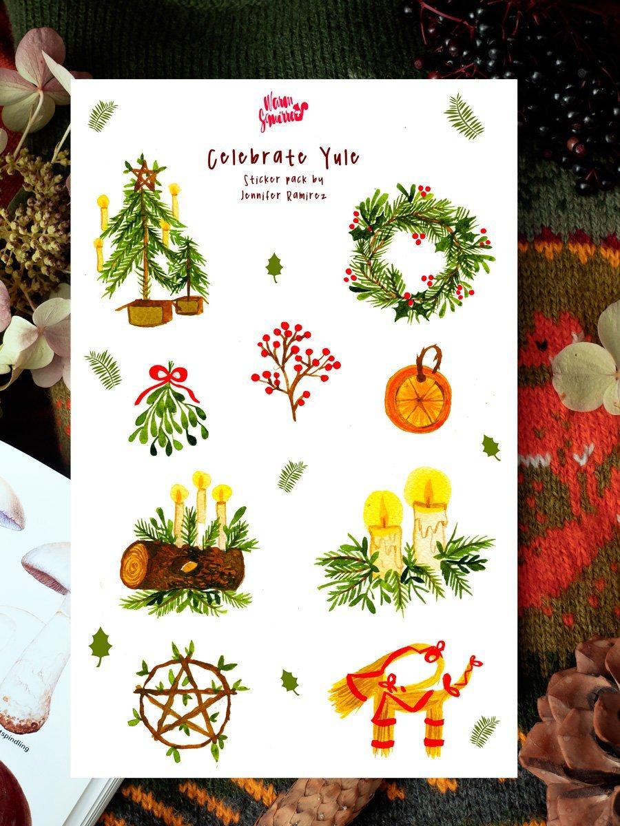 WarmSquirrel Yule Celebrations Sticker Set By Warmsquirrel