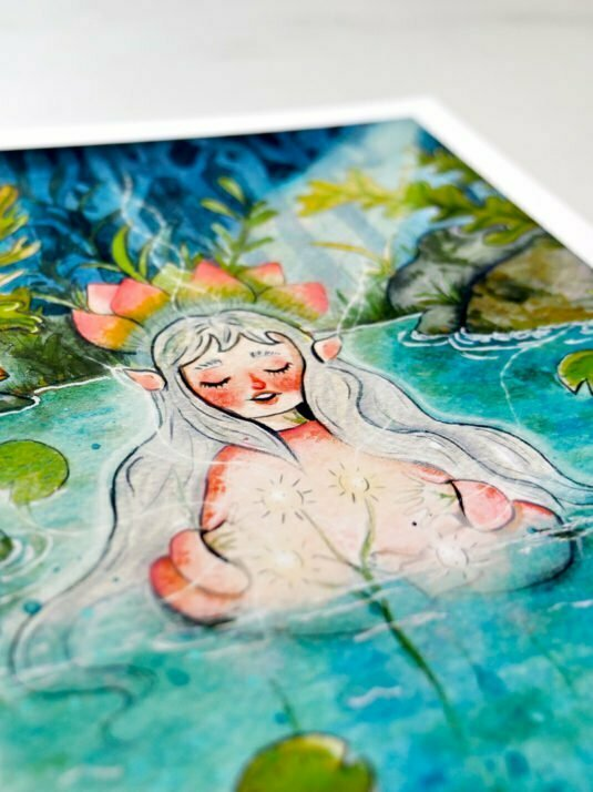 WarmSquirrel Water Fairy By Warmsquirrel Jennifer Ramirez Printing