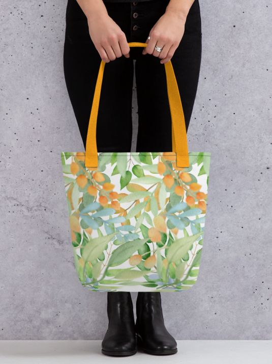 WarmSquirrel All Over Print Tote Yellow X Mockup E Daa