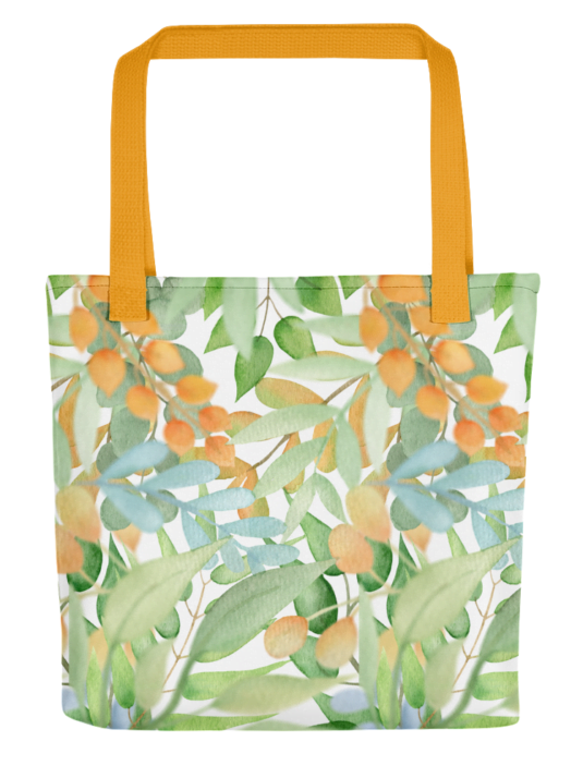 WarmSquirrel All Over Print Tote Yellow X Mockup E Db B